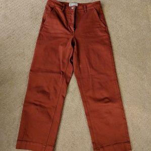 Everlane straight leg crop red 6